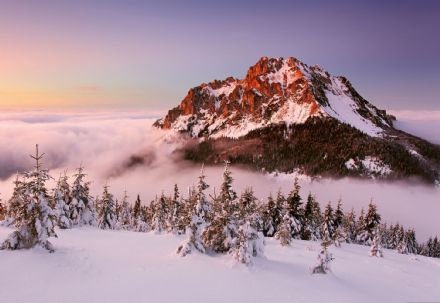 Photo wallpaper Snowy Mountain Peak